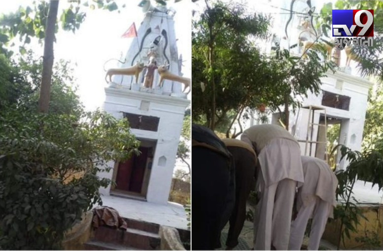 muslims offer namaz in shiv temple