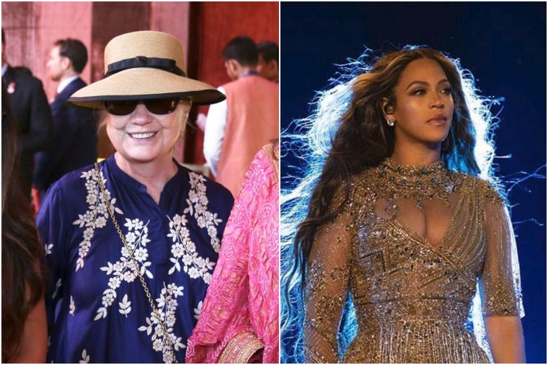 Hillary clinton and Beyonce at Isha ambani wedding
