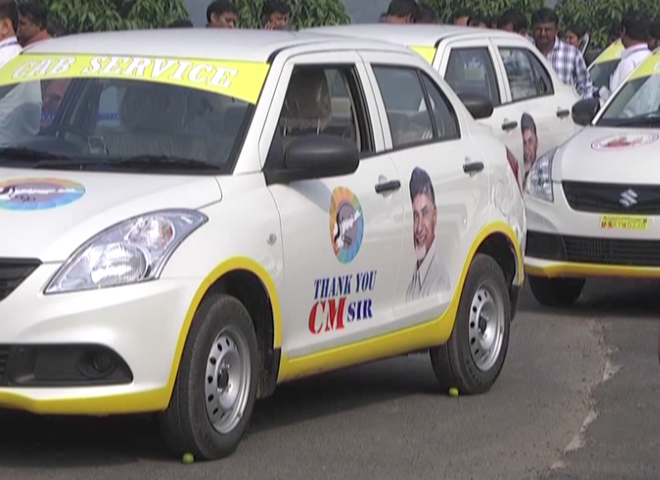 Andhra CM gives cars to unemployed youths