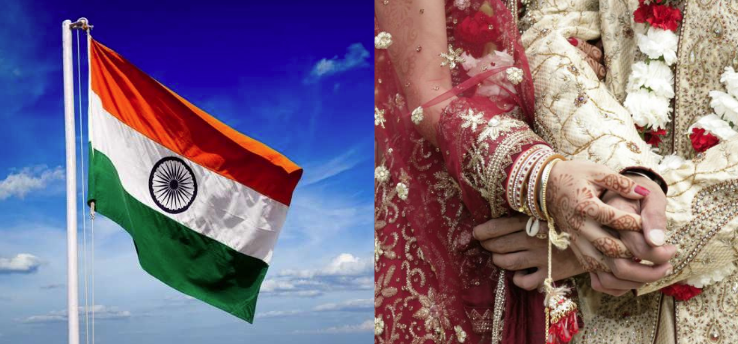 Rajkot couple hoists tricolor before taking wedding vows