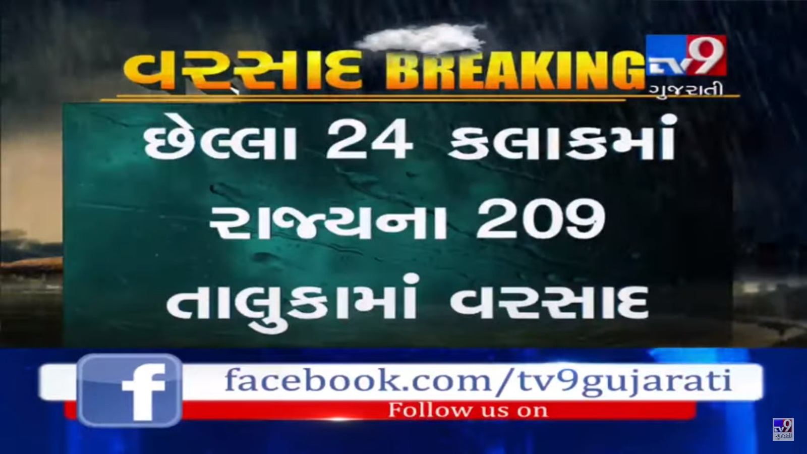 209 taluka received rain in last 24 hours