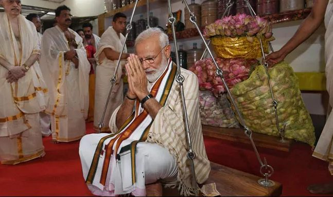 PM Modi તુલાદાન વિધિ
