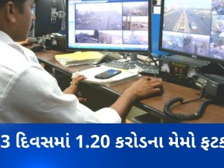 E-memo worth Rs. 1.20 Crores issued by Rajkot police within 3 days