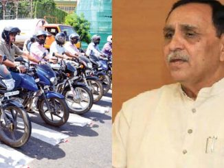 Helmet law is temporarily suspended, not abolished, says Gujarat CM Vijay Rupani rajya ma fari farjiyat helmet no kaydo amal ma aave tevi shakyata CM rupani e aapyu motu nivedan