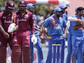 west indies same ni ODI match ma Indian team ne moto jatko bhuvneshwar kumar thayo injured