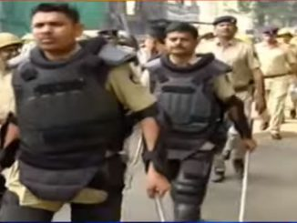 After yesterday's Anti-CAA protest, Surat police conduct flag march to maintain law and order
