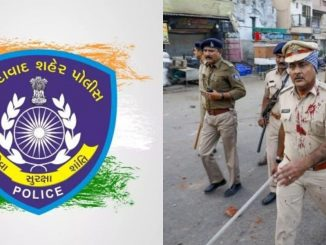 Gujarat People thanked the Ahmedabad Policemen on social Media Platforms after Shah Alam Violent Protest