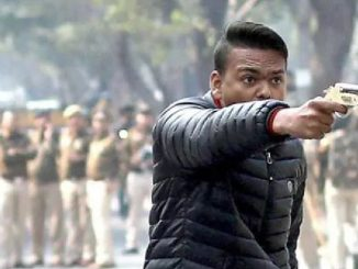 Delhi: Firing during CAA protest march in Jamia; 1 injured delhi jamia vistar ma CAA na virodh pradarshan darmiyan firig 1 vyakti ijagrast