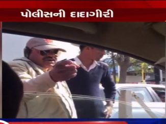 On cam: Policeman misbehaves with commuter in Rajkot