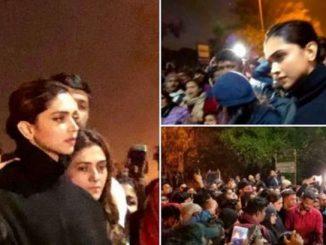 Delhi: Deepika Padukone joins students at JNU during protest
