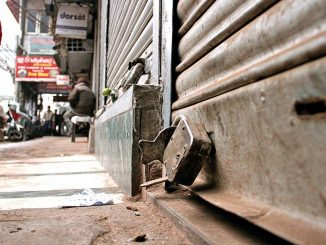 Ahmedabad Shops in Juhapura kept closed in protest against CAA NRC