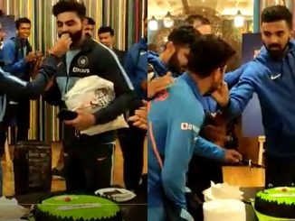 Ind VS Aus 2nd ODI: Team India celebrated their victory over Australia by cutting cake 2nd ODI match ma India ni dhamakedar jit rajkot ma team e cake kapi jit ni ujavani kari
