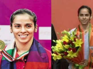 Badminton Player Saina Nehwal joins BJP in the presence of Party's National General Secretary Arun Singh Badminton jagat ma Bharat ne anek siddho aapvanar kheladi saina nehwal ni BJP ma entry
