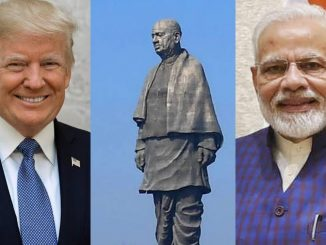 US President Donald Trump may visit Statue of Unity on Feb 25 PM Modi ni sathe President Donald Trump 25 february e Statue of Unity ni mulakat lai shake che