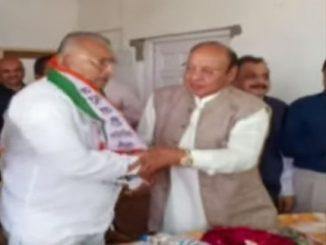 Congress Bhikabhai Jajdiya along with his supporters joins NCP Bhavnagar