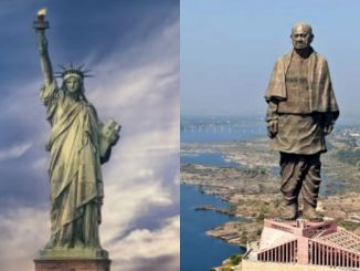 namaste trump motera stadium ma PM Modi e kahyu ke ek ne statue of liberty to bija ne statue for unity par garv
