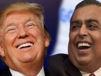 mukesh ambani said something even donald trump can not resist to laugh Mukesh ambani e kahi aevi vat ke US President trump hasi padya