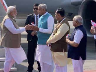 prime-minister-narendra-modi-arrives-in-ahmedabad-airport-pm-modi-nu-ahmedabad-airport-khate-aagman