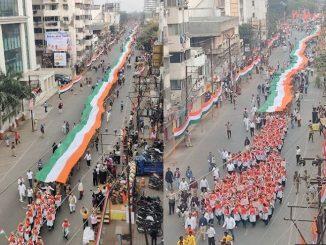 Gujarat BJP holds massive pro CAA rally in Rajkot