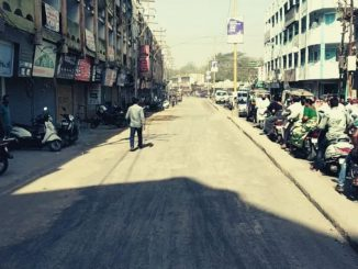 Merchants offended over underground sewer work on Jayshree Road in Junagadh