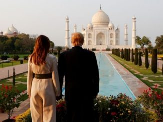 US President Donald Trump's message in the visitor's book at the Taj Mahal