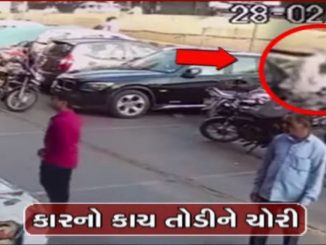 On cam Glasses broken valuables worth Rs. 3.5 lacs stolen from a car in broad daylight in Surat
