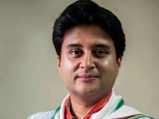 Congress mathi rajinamu aapya bad jyotiraditya scindia J.P.Nadda ni hajri ma BJP ma jodaya