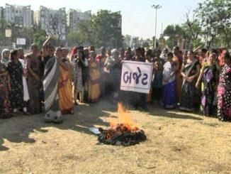 Navsari Women stage protest against Gujarat budget 2020-21