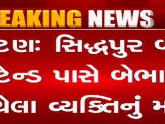 A man suddenly collapses near sidhdhpur bus stand, dies Patan bus stand pase bebhan thayela vyakti nu mot collector e aapya tapas na aadesh