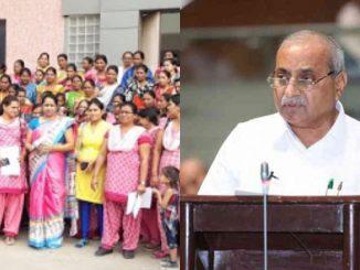 Gujarat govt announces hike in salaries for Anganwadi & Mini anganwadi women workers anganwadi behno mate sara samachar DyCM Nitin patel e grhu ma kair vetan vadhara ni jaherat