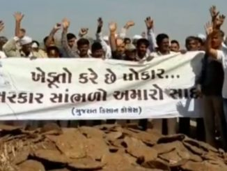 Farmers stage protest over empty Sani dam, Dwarka