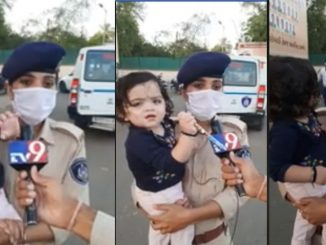 mahila police constable 14 mahinani balki sathe nibhavi rhya chhe faraj
