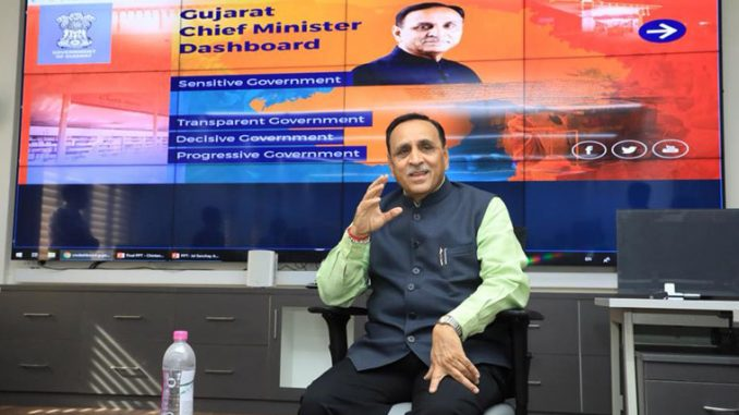 CM Rupani and Dy CM Nitin Patel review Civil Hospitals work through Dashboard Ahmedabad