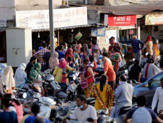 People resort to panic buying as authorities order shutting down of all shops except milk&medicines