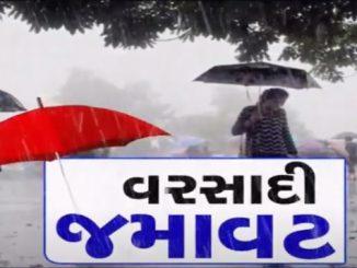 Rainfall in 67 talukas of Gujarat in last 24 hours Rajya ma chomasha ni aagekuch yathavat chela 24 kalak ma 67 taluka ma varsad nodhayo