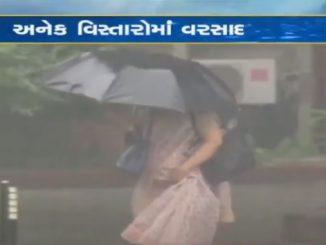 Heavy rain lashed Gandhinagar, low-lying areas waterlogged Rajya na patnagar ma dodhmar varsad circuit house ane aaspas na vistar ma varsad