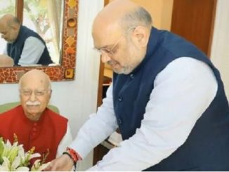 Delhi: Home Minister AmitShah met senior BJP leader Lal Krishna Advani at the latter's residence today