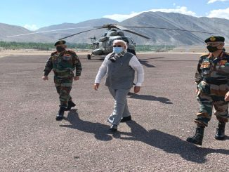 modi at leh ladakh