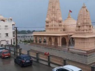 Heavy rain in Jamjodhpur, Umiyadham temple premises submerged saurashtra ma bhare varsad sidsar umiya campus ma pern bharaya pani