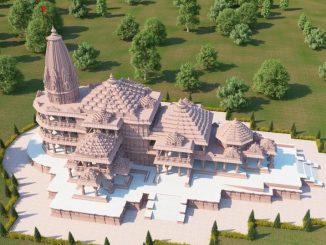 ram-mandir-ayodhya-model-before-bhumi-pujan Rammandir na bhumi pujan pehla juvo mandir taiyar thaya pachi aandar bahar thi kevu hase