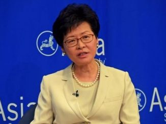 us imposed sanctions on hong kong chief executive carrie lam China na nava suraksha kayda par US action ma hong kong na chief executive sahit 10 toch na adhikario par pratibandh