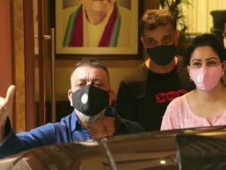 "Mumbai: Actor SanjayDutt leaves from his residence for Kokilaben Hospital. He says, ""Pray for me."" Mumbai kokilaben hospital ma dakhal thaya sanjay dutt kahyu prathna karo mara mate"