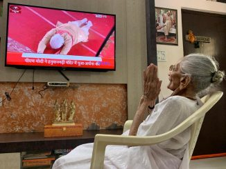 PM Modis mother Hiraba witnessed Ram temple bhoomi pujan event at her residence in Gandhinagar