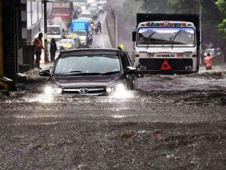 Water logging in parts of Mumbai following incessant rainfall in the city