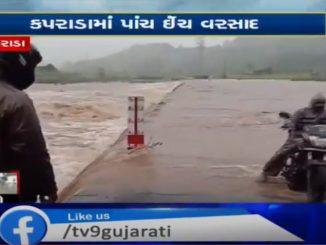 Heavy rain in Kaprada