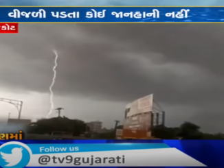 Lightning strike caught on cam