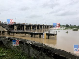 Patan's Saraswati reservoir flooded after universal rains, Patan residents rejoice as new water enters the reservoir in 3 years