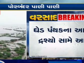 Porbandar: Aerial view of waterlogged Ghed post heavy rainfall