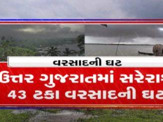 North Gujarat facing rain deficit