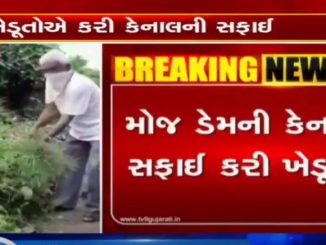 Rajkot After authorities inactivity, farmers undertake cleaning of canal on their own